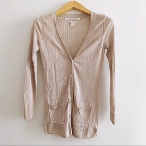 Max Studio Linen Long Cardigan